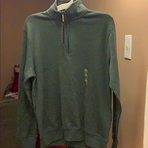 NWT Van Heusen ZIP up   Green Sweater